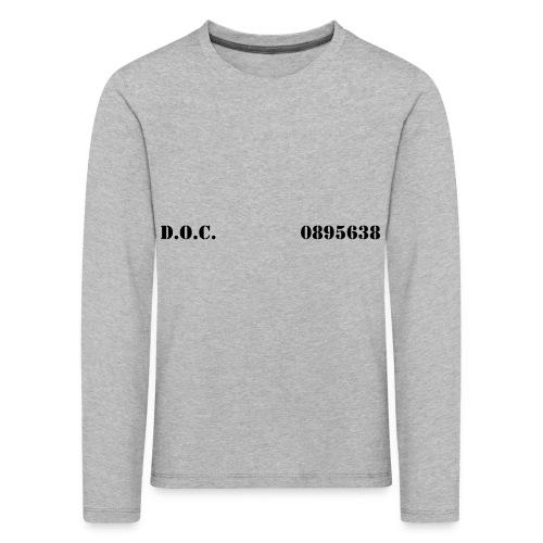 Department of Corrections (D.O.C.) 2 front - Kinder Premium Langarmshirt