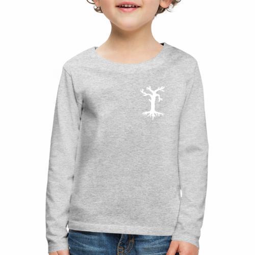 Valkoinen kelopuu - Lasten premium pitkähihainen t-paita