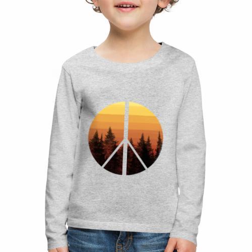 peace and sun - T-shirt manches longues Premium Enfant