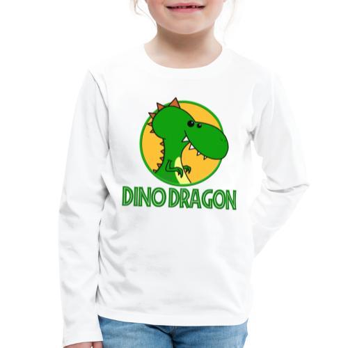 Dino Dragon - Børne premium T-shirt med lange ærmer