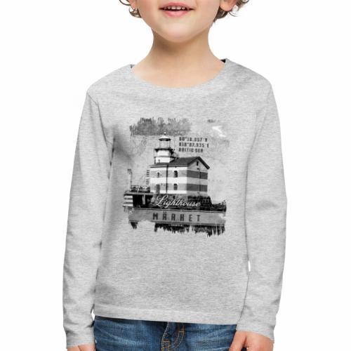 Märket majakkatuotteet, Finland Lighthouse, Harmaa - Lasten premium pitkähihainen t-paita