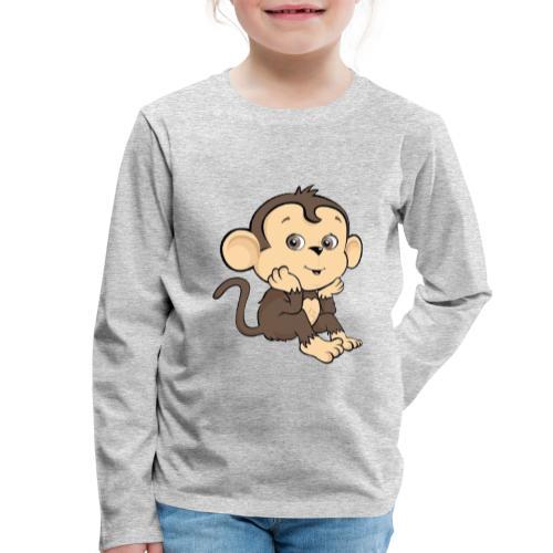 Monkey - Långärmad premium-T-shirt barn