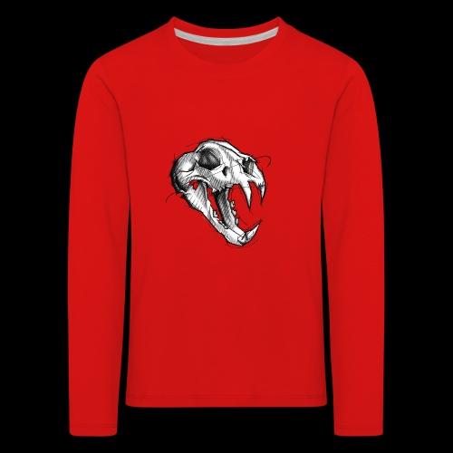 Teschio Tigre - Maglietta Premium a manica lunga per bambini