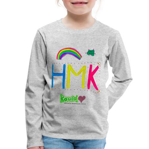 HMK Montessori-koulun omat - Lasten premium pitkähihainen t-paita