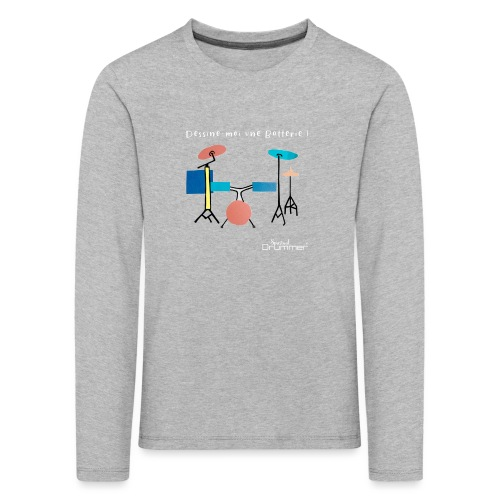 Azia Drum White - Kids' Premium Longsleeve Shirt