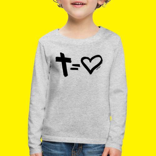 Cross = Heart BLACK - Kids' Premium Longsleeve Shirt