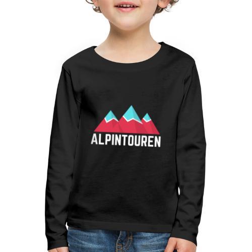 Alpintouren Logo - Kinder Premium Langarmshirt