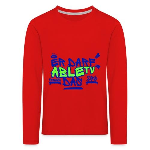 AbleTV Grafitti Logo Marken Shirt (Er Darf Das) - Kinder Premium Langarmshirt