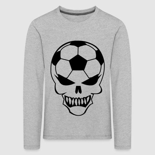 Fußball-Totenkopf - Kinder Premium Langarmshirt