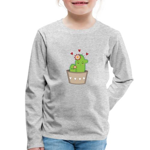 Kaktus Mama mit Kaktus Baby - Kinder Premium Langarmshirt