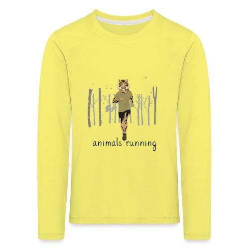 Tigre running - T-shirt manches longues Premium Enfant