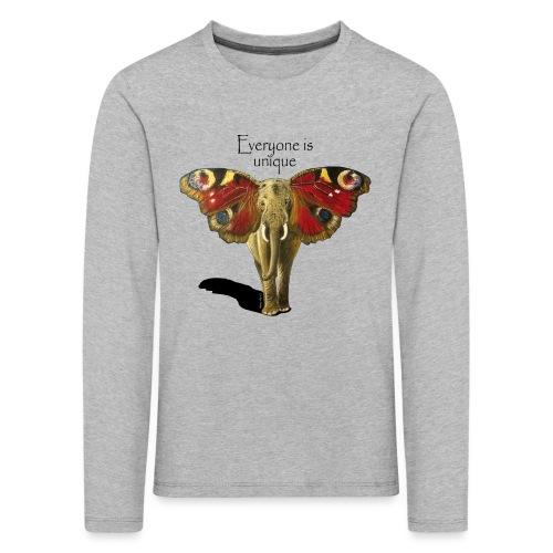 Everyone is unique – Schmettefant - Kinder Premium Langarmshirt