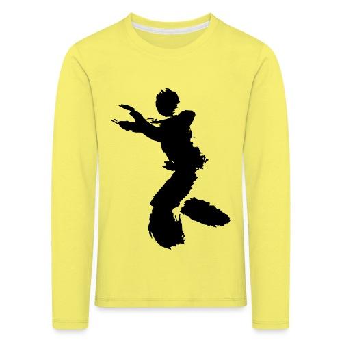 Wing Chun / Kung Fu Tusche Figur VEKTOR - Kids' Premium Longsleeve Shirt