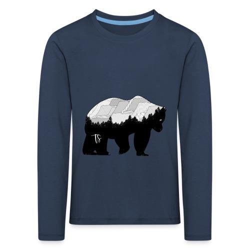 Geometric Mountain Bear - Maglietta Premium a manica lunga per bambini