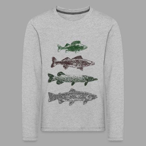 Lake - Lasten premium pitkähihainen t-paita