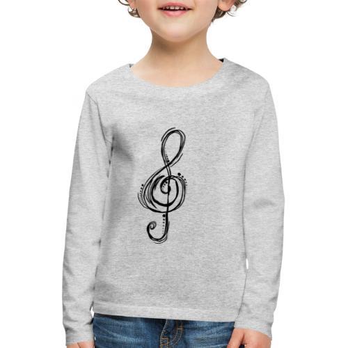 Violinschlüssel - Kinder Premium Langarmshirt