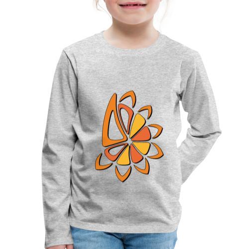 spicchi di sole caldo multicolore - Maglietta Premium a manica lunga per bambini