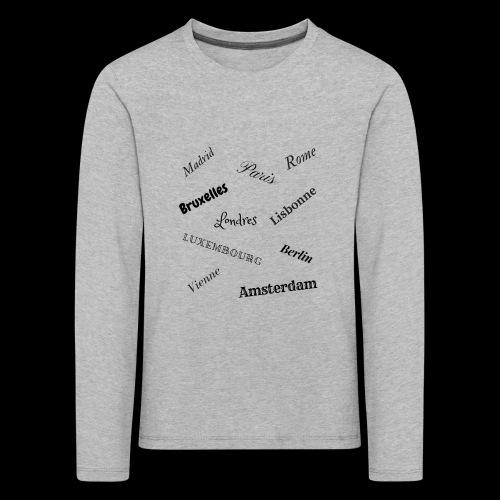 capitales européennes - T-shirt manches longues Premium Enfant