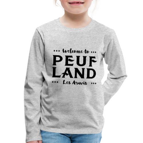 Peuf Land Aravis - Black - T-shirt manches longues Premium Enfant