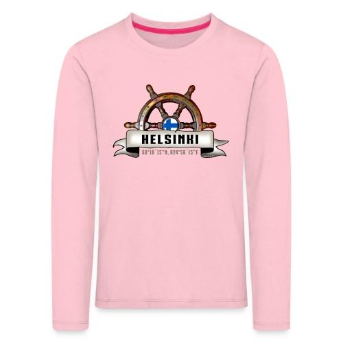 Helsinki Ruori - Merelliset tekstiilit ja lahjat - Lasten premium pitkähihainen t-paita