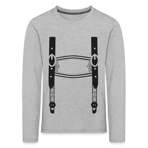 Lederhose - Kinder Premium Langarmshirt