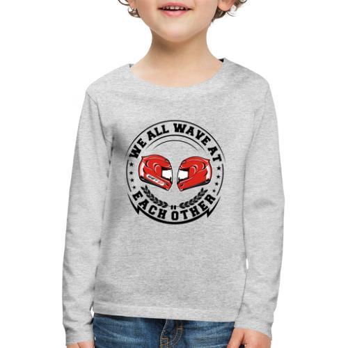 WE ALL WAVE - NOIR - T-shirt manches longues Premium Enfant