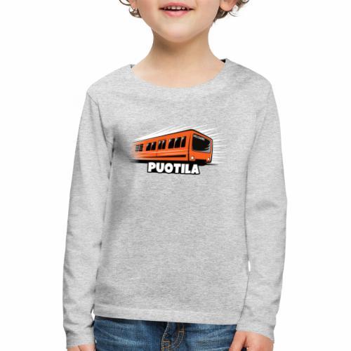 HELSINKI PUOTILA METRO T-Shirts, Hoodies, Gifts - Lasten premium pitkähihainen t-paita