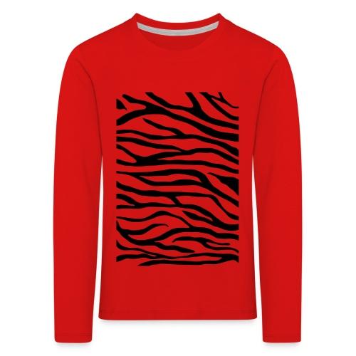 zebra v6 - Kinderen Premium shirt met lange mouwen