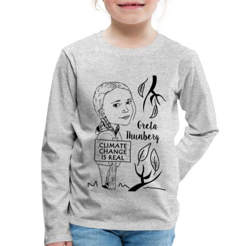 climate change is real - Kids' Premium Longsleeve Shirt