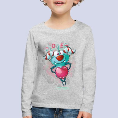 Monster cartoon love design - Kids' Premium Longsleeve Shirt
