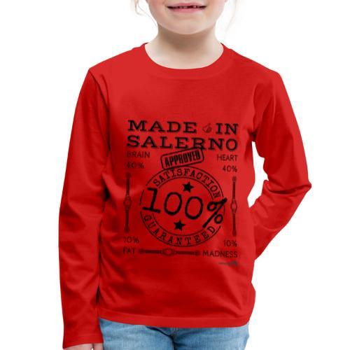 1,02 Made In Salerno - Maglietta Premium a manica lunga per bambini