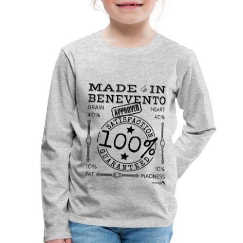 1,02 Prodotto a Benevento - Maglietta Premium a manica lunga per bambini