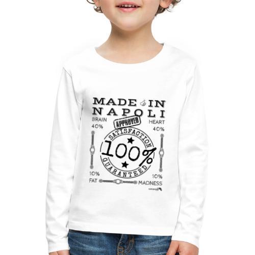 1,02 Made In Napoli - Maglietta Premium a manica lunga per bambini