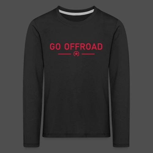 go offroad - Koszulka dziecięca Premium z długim rękawem