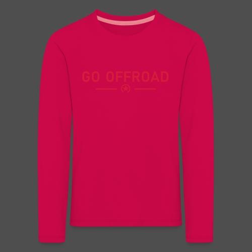 idź off-road - Koszulka dziecięca Premium z długim rękawem