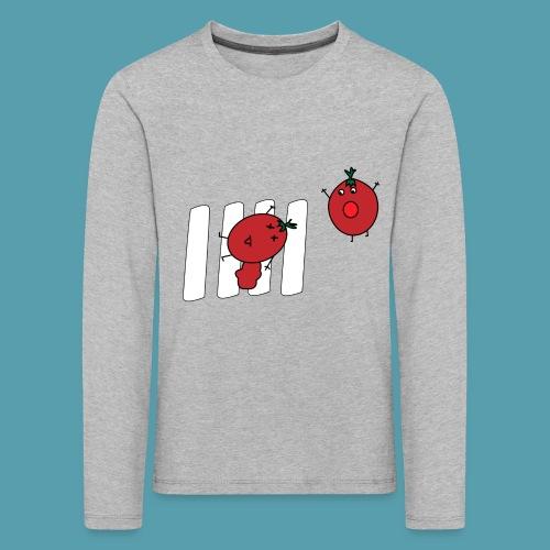 tomaatit - Lasten premium pitkähihainen t-paita