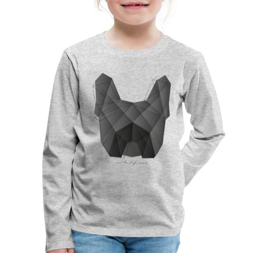 Geometric Frenchie black - Französische Bulldogge - Kinder Premium Langarmshirt