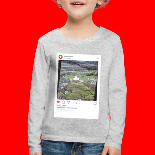 travelsuisse - Burg Balzers - Kinder Premium Langarmshirt