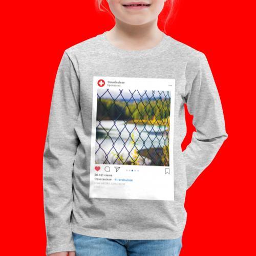 travelsuisse - Caumasee Zaun - Kinder Premium Langarmshirt