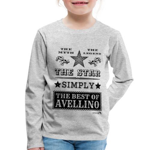 1,03 The Star Legend Avellino - Maglietta Premium a manica lunga per bambini