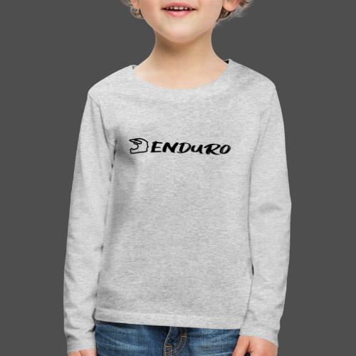 Enduro - Koszulka dziecięca Premium z długim rękawem