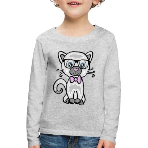 Katze Kätzchen - Kinder Premium Langarmshirt