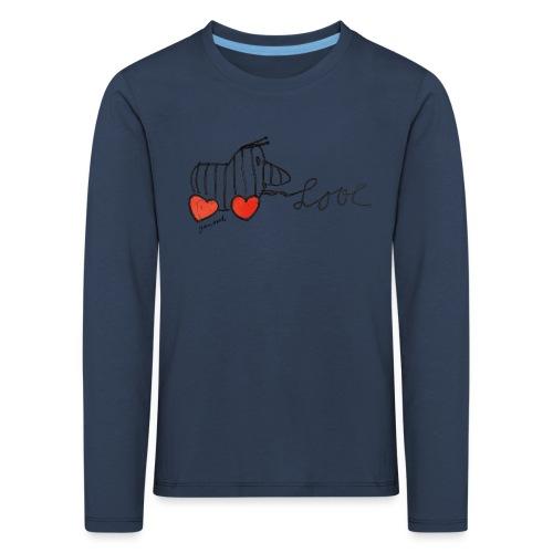 Janosch Tigerente Love Schriftzug - Kinder Premium Langarmshirt