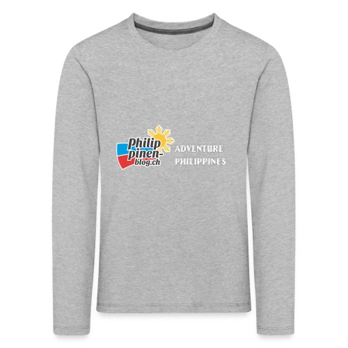 Philippinen-Blog Logo english schwarz/weiss - Kinder Premium Langarmshirt