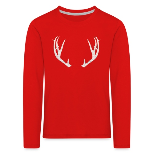 Jäiset poronsarvet - Lasten premium pitkähihainen t-paita