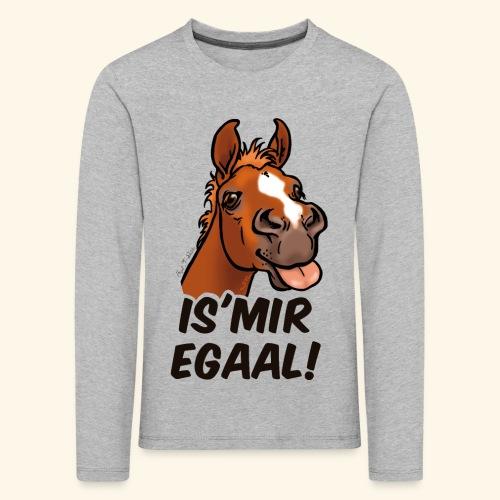 Fohlen Is Mir Egaal! (schwartzer Text) - T-shirt manches longues Premium Enfant