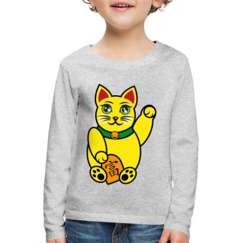 Maneki Neko, Winkekatze farbig - Kinder Premium Langarmshirt
