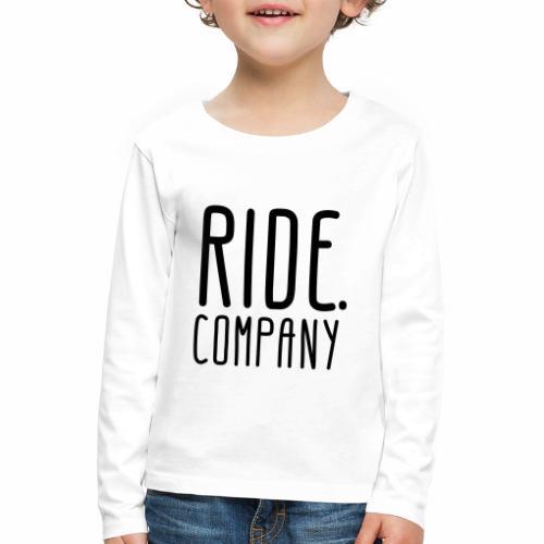 RIDE.company - just RIDE - Kinder Premium Langarmshirt