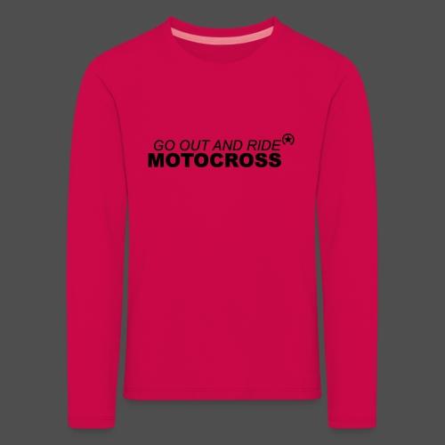 jeździć motocross bk - Koszulka dziecięca Premium z długim rękawem