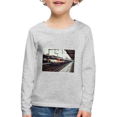 Goederentrein in Almere Buiten - Kinderen Premium shirt met lange mouwen